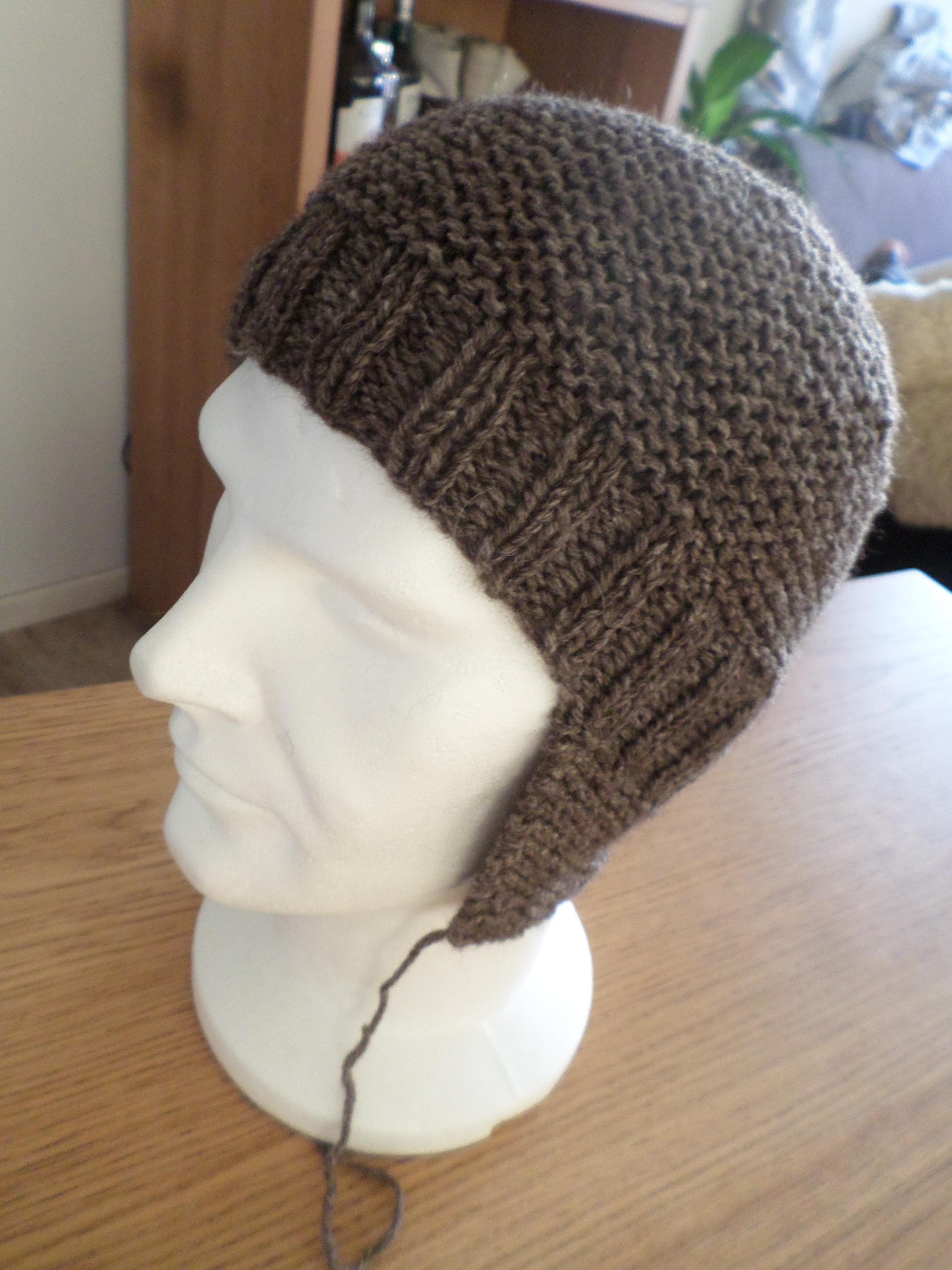 Yuson Gir Bonnet chaud en tricot pour b/éb/é avec sangle Motif oreilles dours mignon /à double couche en coton doux Bonnet avec sangle pour nouveau-n/é Bbay Gar/çons Filles